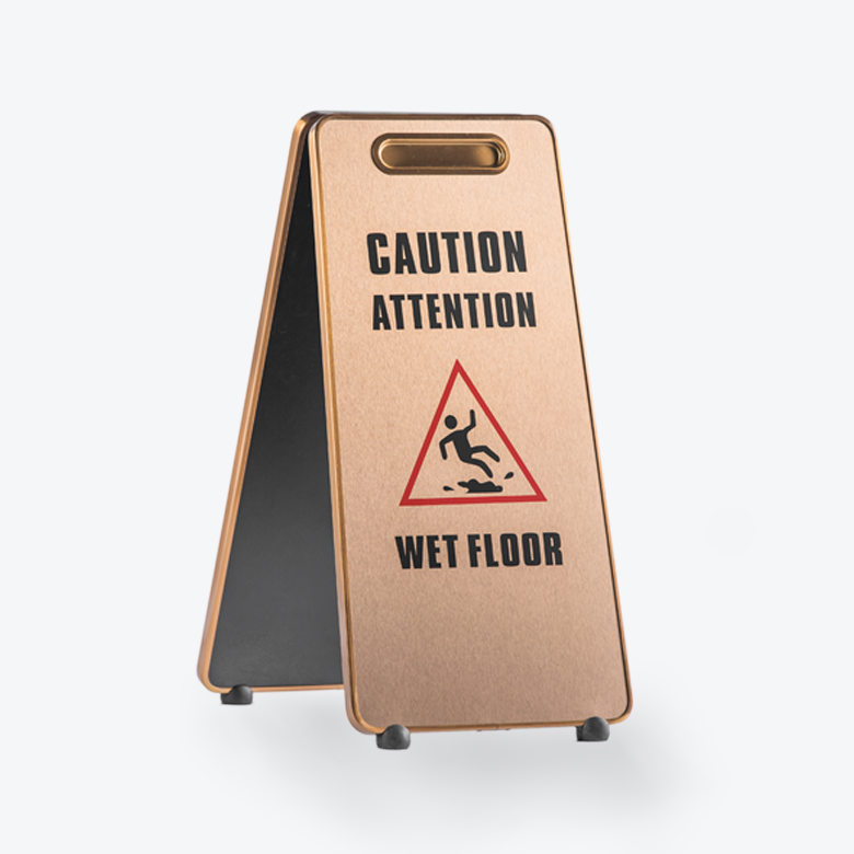 Aluminum Caution Wet Floor Signcaf 508g Stanchions Canada